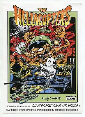 """Color Ad Flyer: """"THE HELLACOPTERS"""" (Graphics Style Resemble """"The Weird-Ohs"""")"""