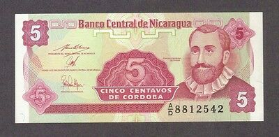1991 5 Centavos Nicaragua Currency Gem Unc Banknote Note Money Bank Bill Cash Cu