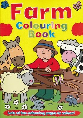 Farm Colouring Book 48 Animal Themed Colouring Pages