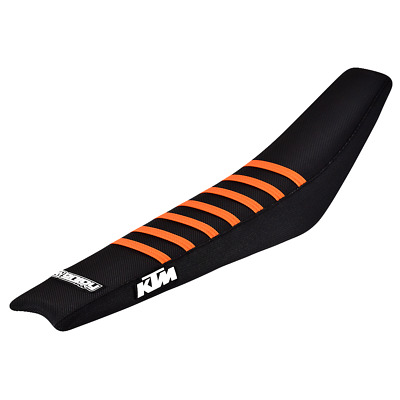 Ribbed Gripper Seat Cover to fit KTM SX EXC 2001 - 2006 Black Orange Motocross