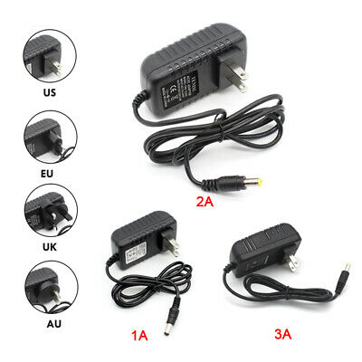DC 12V 1A/2A/3A Power Supply Adapter Charger Transformer for 3528/5050 LED Strip