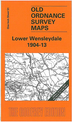 Old Ordnance Survey Map Lower Wensleydale 1904-1913 Aysgarth Bedale Ramsgill