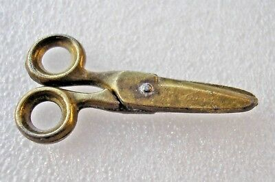 Teeny weeny miniature pair of antique Victorian scissors - work really well