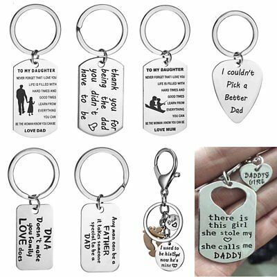 Stainless Steel For Mum Dad Son Daughter Necklace Keyring Mother Mom Presents