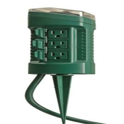 ❤ Woods 13547Wd Outdoor Yard Stake With Photocell & Built-In Timer 6 Grounde ❤