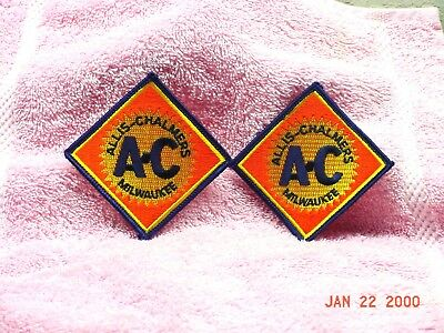(2) Allis Chalmers Tractor  Diamond Logo Patches
