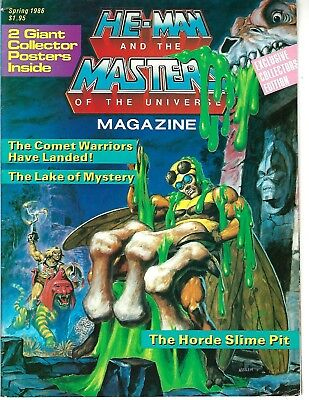 He-Man and the Masters of the Universe Magazine Spring 1986 (VG) w/Posters