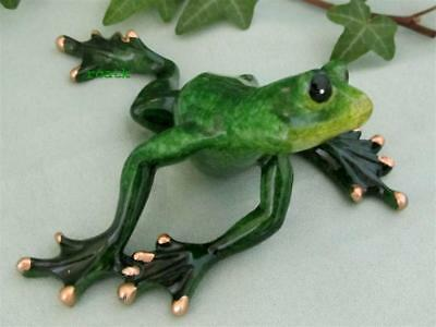 ADORABLE GREEN FROG TROPIC CRITTER RESIN Realistic Garden Pond Sculpture