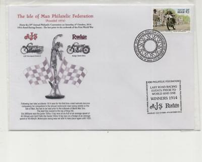 Isle of Man 2014 100th Anniv Last TT pre WW1 Cover, for Philatelic Convention