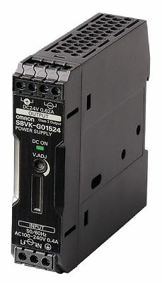 OMRON DC Power Supply,24VDC,0.65A,50/60Hz, S8VK-G01524