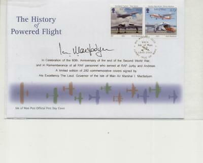 Isle of Man 2005 History of Powered Flight Cover, Signed by IOM Governor,only250