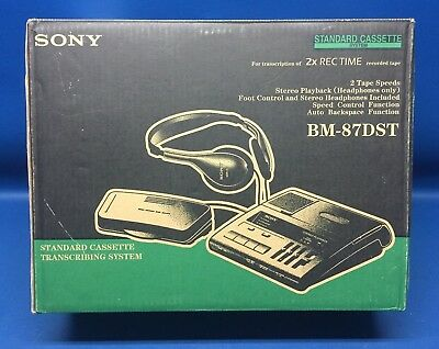 New -- Sony BM-87DST Standard Cassette Transcriber with Pedal and Headset