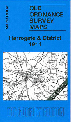 Old Ordnance Survey Map Harrogate 1911 Burton Leonard Aldborough Knaresborough