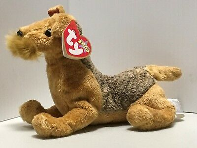 Airedale Welsh Terrier Beanie Baby Whiskers With Tags