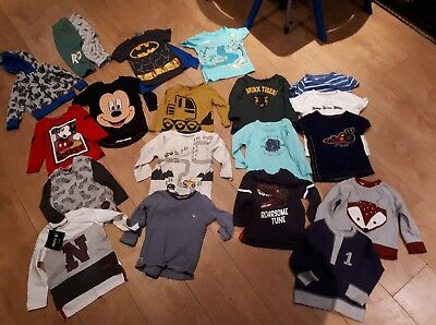 baby boys bundle 9-12 months mostly tops. NEXT River island, ladybird Mini V