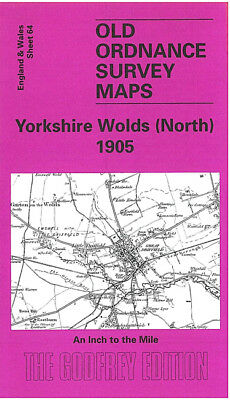 Old Ordnance Survey Map Yorkshire Wolds Burton Agnes Driffield Wetwang 1905