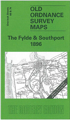 Old Ordnance Survey Map The Fylde Southport Blackpool Fleetwood 1896