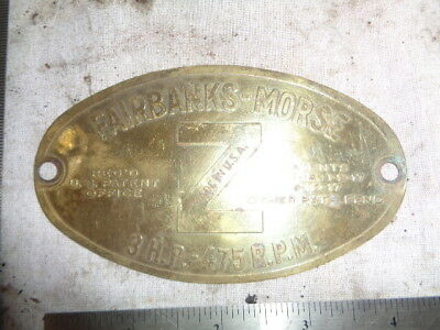 3 hp tag Fairbanks Morse Z hit engine tractor auto motorcycle