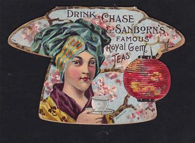 Victorian Trade Card - Chase & Sanborn's Coffee & Tea - Folded Die Cut