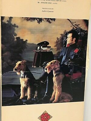 Adam Ant Cd With His Airedales Pictured, Box Holding The Cd Is Signed By Adam