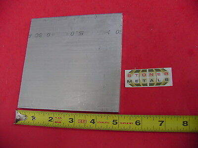 "1/4"" X 5"" ALUMINUM 6061 FLAT BAR 5"" long T6511 .250"" Plate Mill Stock"