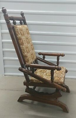 Antique Eastlake Platform Rocking Chair PICK UP ONLY - Dallas Texas