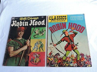 1950s ROBIN HOOD COMIC BOOKS WALT DISNEY'S #669 CLASSICS ILLUSTRATED #7