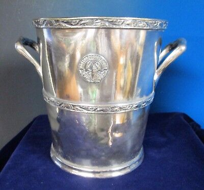 BOSTON OYSTER HOUSE Champagne Cooler Lobster & Oyster Logo Silverplate