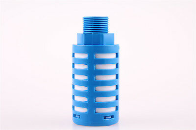 3/4BSP Thread Pneumatic Muffler Noise Exhaust Blue Plastic Fitting