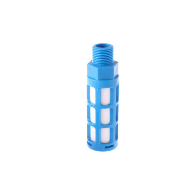 "3/8"" PT Thread Plastic Air Pneumatic Silencer Muffler Blue 1PCS"