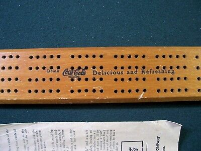 Coca-Cola Cribbage Board Game