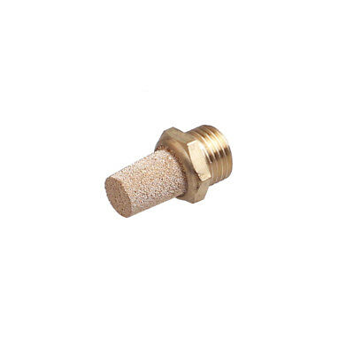 1Pcs 1/4 Male Thread Silencer Noise Exhaust Pneumatic Muffler Gold Tone