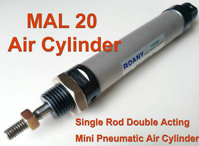 Pneumatic Air Cylinder MAL20x400 20mm Bore 400mm Stroke Single Rod Double Acting