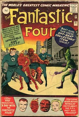 Fantastic Four #11 - G/VG - 1st Appearance Of The Impossible Man