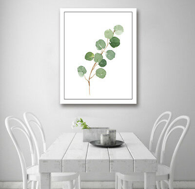 Watercolor Tree Branch Modern Art Poster Prints Wall Room Decor Canvas Painting