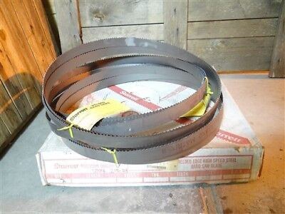 "New Lot Of 5 Starrett Band Saw Blades Powerband Matrix Ii 14'-6"" X 1-1/4"" 3/4Tpi"
