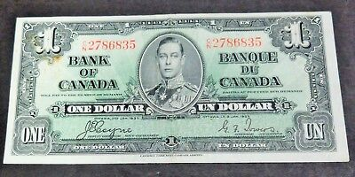 1937 Bank Of Canada $1 Dollar Note, Circulated Condition, Lot#7