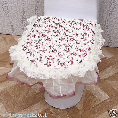 15X Lovely Style Practical Fabric Size 26 * 23 CM Three-Piece Toilet Covers