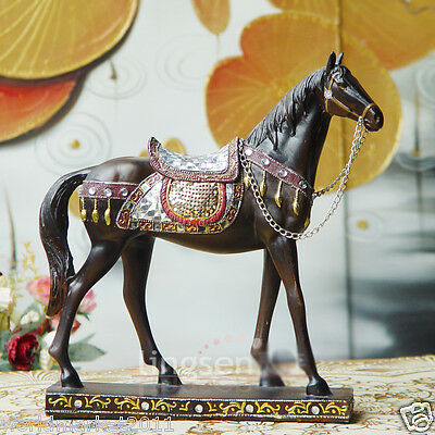 New European Resin Gift Height 28.5cm Horse Home Decoration Crafts Statue