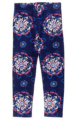 Gymboree Mix n Match Navy Splash Print Leggings Pants NWT 7 8 Retail Store