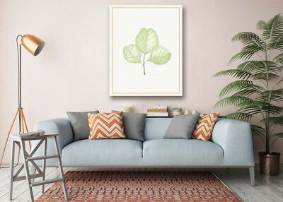 Watercolor Cute Leaves Modern Art Poster Print Wall Room Decor Canvas Painting