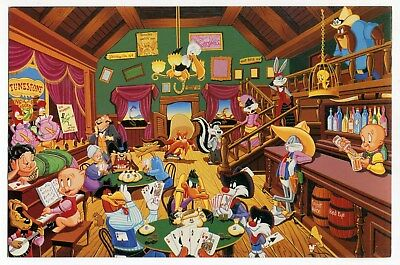 "1995 Art Show Invitation Card: Looney Tunes ""Western Suite"" Serigraph Premiere"