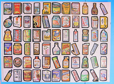 1979 Topps Wacky Packages Packs Series No. 1 Full Uncut Sheet 66 Stickers Cards