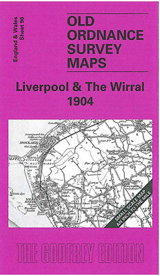 Old Ordnance Survey Map Liverpool The Wirral 1904 New Brighton Holywell Wallasey