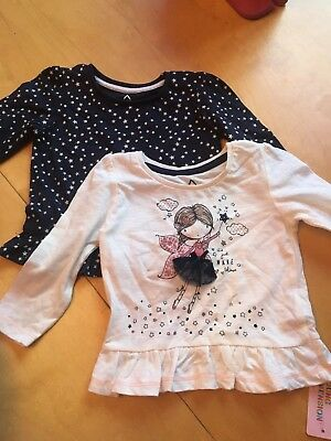 Baby Girls Pack Of 2 Top Age 9-12 Months Bnwt