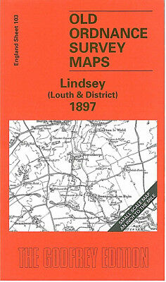 Old Ordnance Survey Map Lindsey Louth & District 1897 Wragby Tealby Fulletby