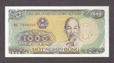 1988 1000 Dong Ho Chi Minh Vietnam Currency Unc Banknote Note Money Bill Cash Cu