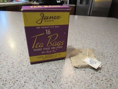 JANCO BRAND! - Vintage, Fredericksburg, Virginia, 16 Each, Tea Bag Box, Clean