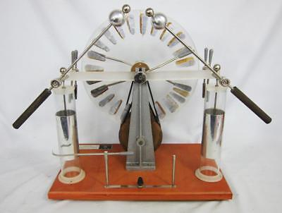 FINE VINTAGE LABORATORY SCIENCE WIMSHURST MACHINE antique scientific STEAMPUNK