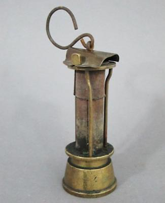 ANTIQUE GAUZE TOP MINERS DAVY LAMP original unrestored condition pit clanny lamp
